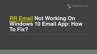 RR Email Not Working On Windows 10 Email App: How To Fix?