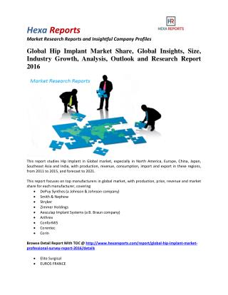 Global Hip Implant Market Professional Survey Report 2016 By Hexa Reports