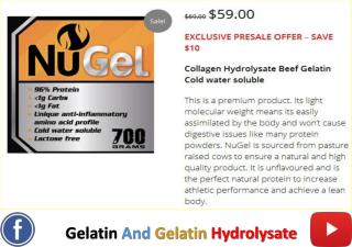 Gelatin and Gelatin Hydrolysate
