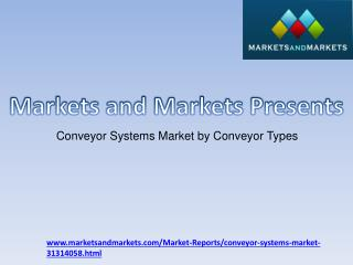 Conveyor Systems Market by Conveyor Types