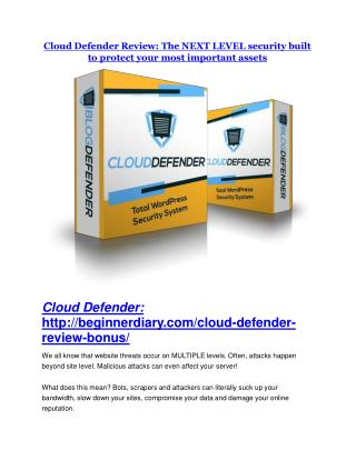 Cloud Defender Review and Premium $14,700 Bonus