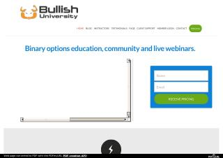 Bullish University - Binary Option Training