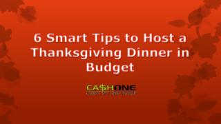 6 Smart Tips to Host a Thanksgiving Dinner in Budget