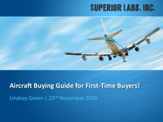 Aircraft Buying Guide for First-Time Buyers