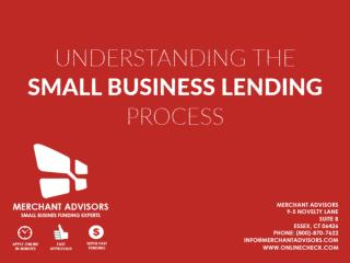 Understanding The Small Business Lending Process