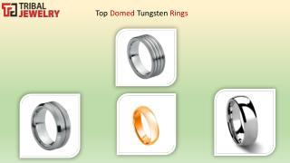 Top Domed Tungsten Rings - Tribal Jewelry