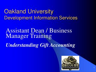 Oakland University Development Information Services