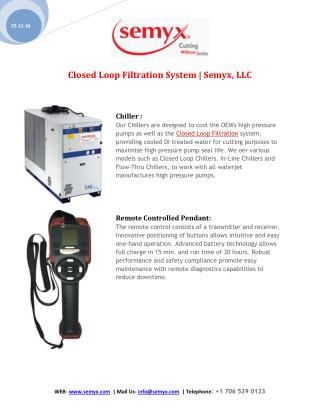 Closed Loop Filtration System | Semyx, LLC