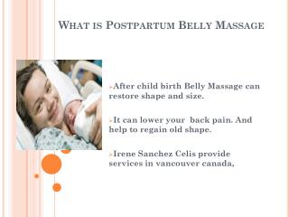 Know Advantage of postpartum Belly Massage