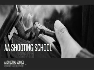 Clay Pigeon Shooting Instruction | AA Shooting School