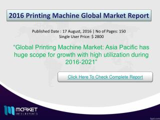 Key Factors based on Global Printing Machine Market 2021