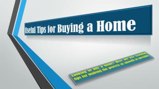 Useful Tips for Buying a Home