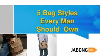 5 Bag Styles Every Man Should Own