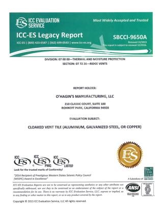 ICC Legacy Report - Ohagin Ventilation