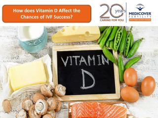 How does Vitamin D affect the chances of IVF success?