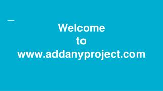 Post your project and Hire freelancers | Addanyproject