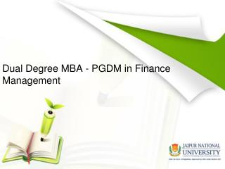 Dual Certification in Finance Management