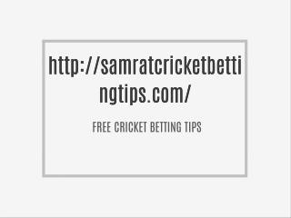 Free cricket betting tips and cbtf