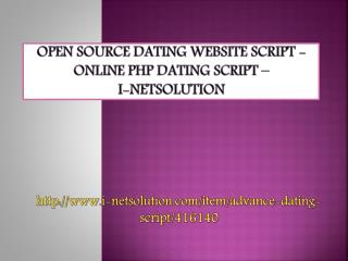 Open Source Dating Website Script - Online PHP Dating Script – i-Netsolution