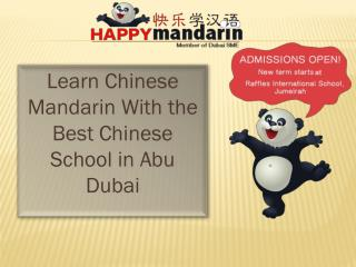 Learn Chinese Mandarin with the best Chinese School in Abu Dubai