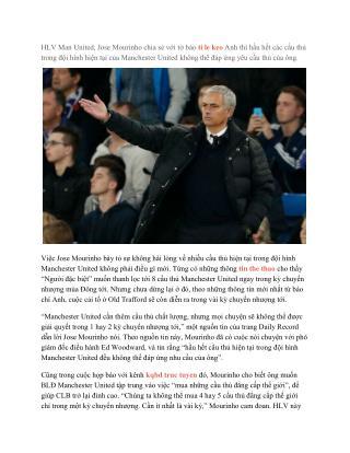 Man United đang sở hữu một đội hình bỏ đi
