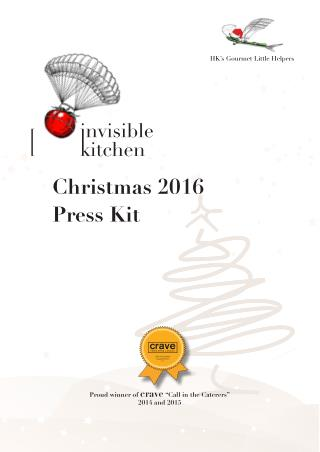 Christmas catering Hong Kong | Christmas 2016 Press Kit | Invisible Kitchen