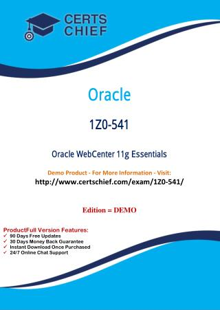 1Z0-541 IT Certification Course