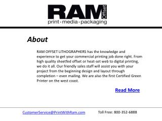 Printing Business in Oregon -RAM OFFSET