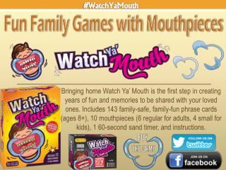 Fun Family Games with Mouthpieces - Watch Ya Mouth