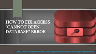 "HOW TO FIX ACCESS ""CANNOT OPEN DATABASE"" ERROR"