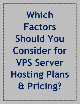VPS Hosting Plan and Pricing