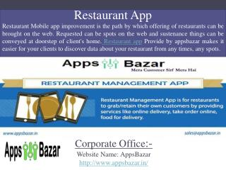 Restaurant App For Customers