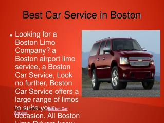 Limousine and Town Car Service