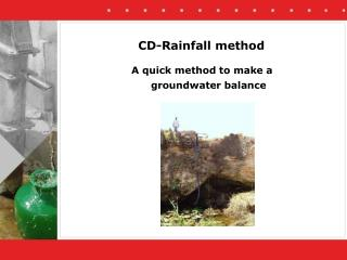 CD-Rainfall method