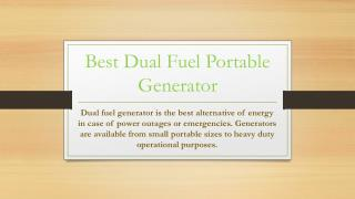 Best portable dual fuel generator