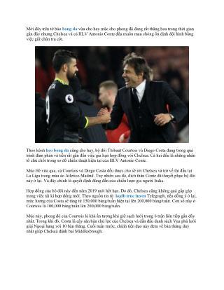 Chelsea sắp kí hợp đồng mới với Diego Costa