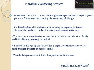 Individual Counseling Services