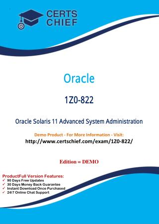 1Z0-822 Exam Certification Test
