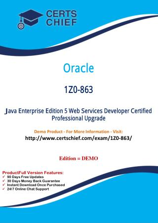 1Z0-863 Professional Certification