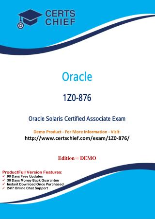 1Z0-876 Professional Certification