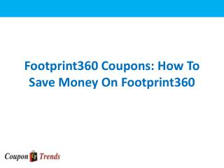 Footprint 360 Coupons For Online Footwears Shopping