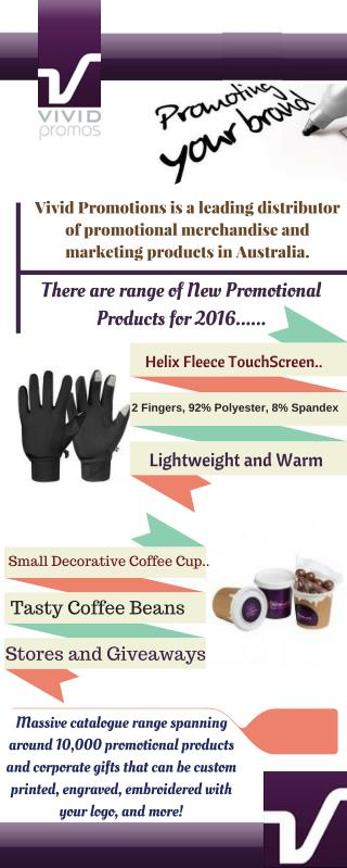 Infographic about Promotional Merchandise at Vivid Promotions
