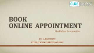 Book online Appointment - CureInstant