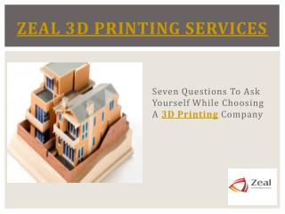 Online 3D Printing Service Australia – Zeal 3D Printing Services