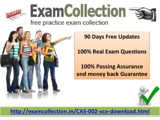 Pass your CAS-002 exam with Exam collection
