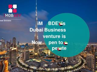 iMOBDEV's business branch at Dubai is now ready to serve