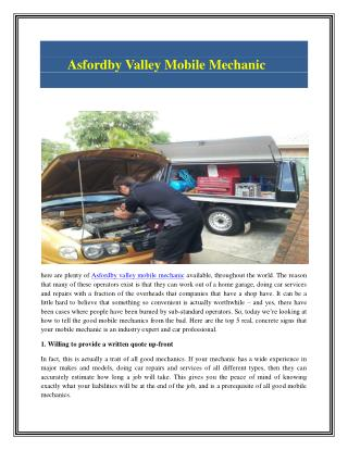 Valley Mobile Mechanic