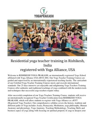 Rishikesh yoga prakash | Yoga Teacher Training in India