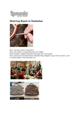 Hand bag Repair in Manhattan