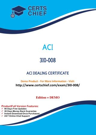 3I0-008 Latest Certification Practice Test